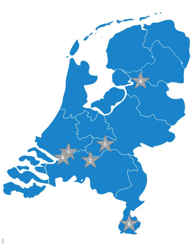 Kaart Nederland Met Locaties
