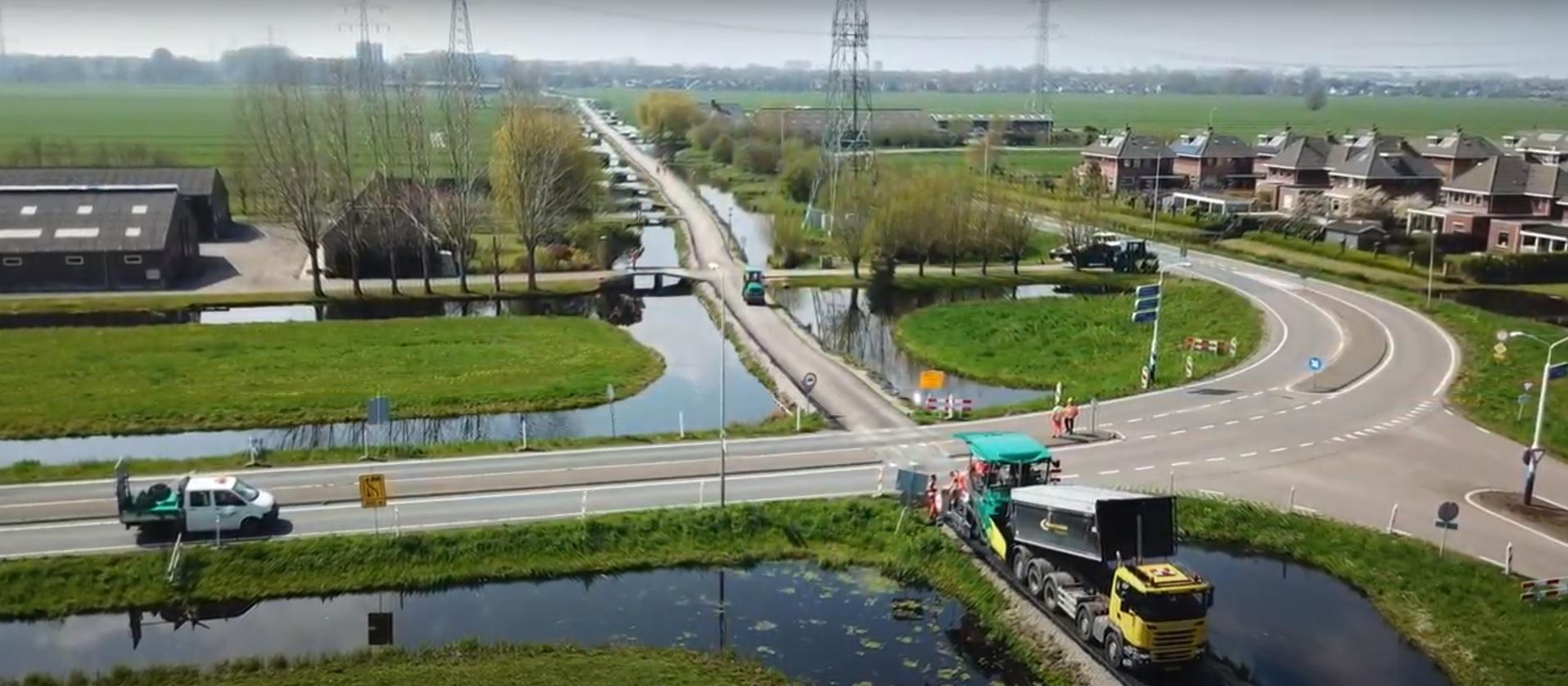 Werk Ouderkerk aan den IJssel - Tiendweg   IJslandse BIms   Wegenbouw